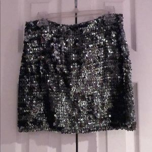Dresses & Skirts - Silver sequin mini skirt